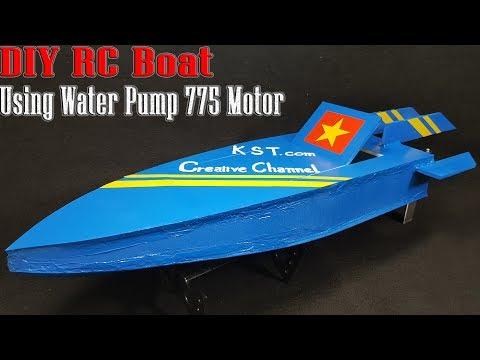 How To Make A RC Boat using Water Pump 775 Motor thumbnail