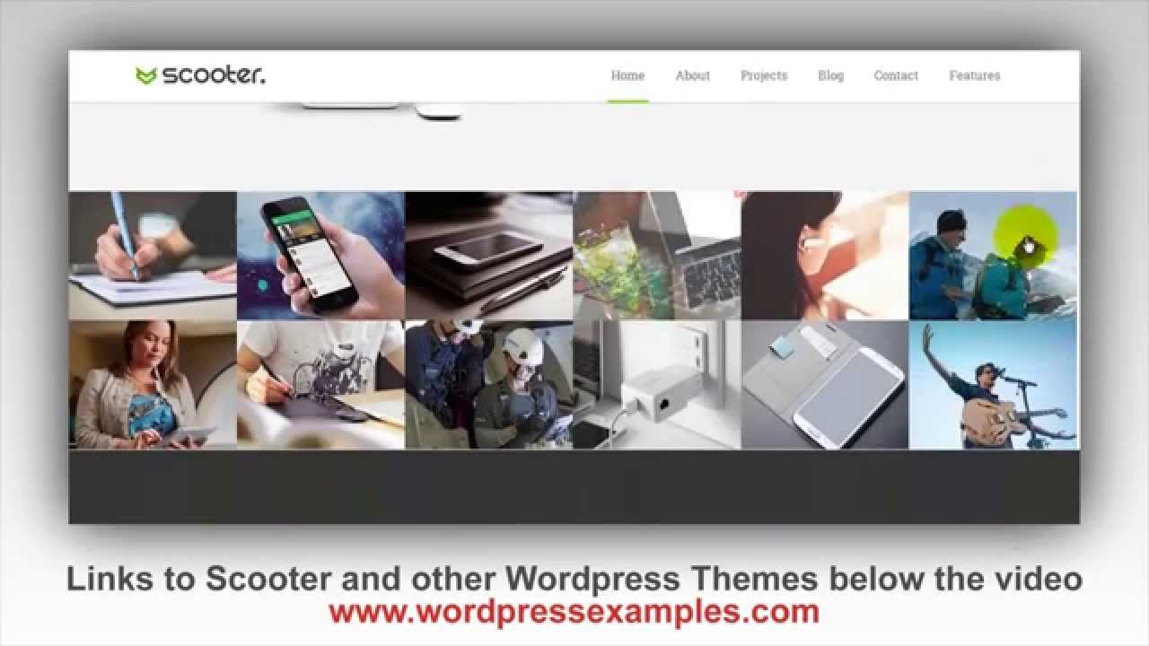 Scooter Wordpress Theme - Wordpress Theme Scooter Preview - YouTube