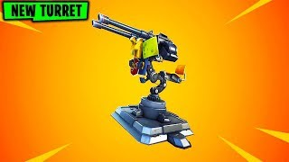 """NEW """"MOUNTED TURRET"""" in FORTNITE..."""