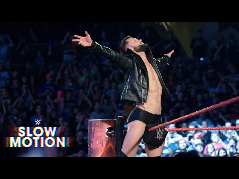 Incredible slow motion footage of  Finn Bálor's surprise return: Exclusive, April 3, 2017