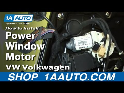 How To Replace Power Window Motor 98-10 VW Volkswagen Beetle