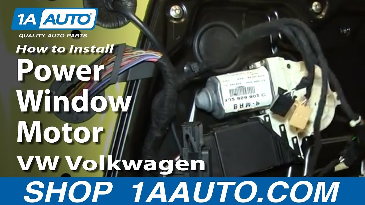 How To Install Replace Power Window Motor 1998 10 Vw Volkwagen 2000 New Beetle Coolant Diagram Wiring Schematic