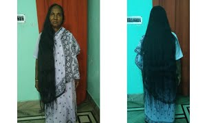 meet my grandmother with her long and thick hair..she is 64 yrs old...