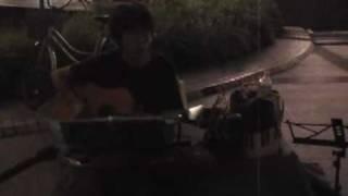 09年7月28日(火)第3回名古屋・金山駅前フォーク路上♪ とんぼちゃん「ぼ...