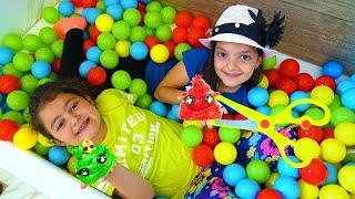 Kids and  Mommy pretend play Poopsie Cutie Tooties Surprise opening! Surprise slime Masal & Öykü