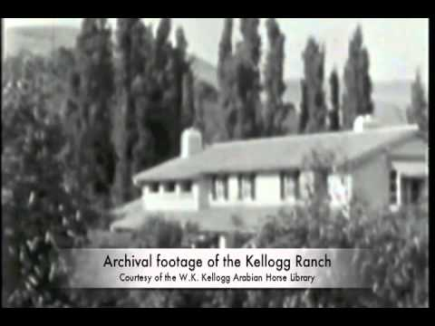 Archival film footage from the Kellogg Ranch