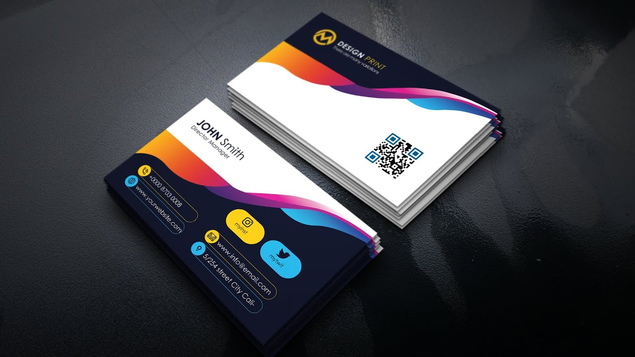 Colorful Creative Business Card - Photoshop Tutorial Regarding Creative Business Card Templates Psd