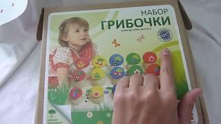 """Обзор деревянной игрушки """"Грибочки"""""""