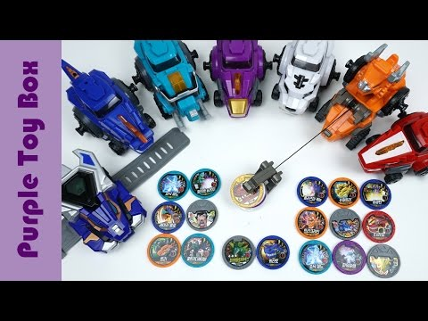 Thumbnail: Blue Dinosaur Disk Tuner And Colorful Disk Making Sounds, Dinocore Season2 Toys