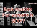 אישה עם שרירים בגב