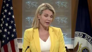 Heather Nauert State Department Press Briefing On North Korea & China, Donald Trump Jr Russia