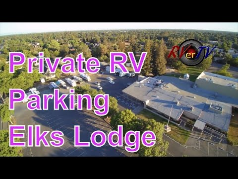 RV Moving Day... Elks Private RV Parking....Elks RV Guide...Aerial Video...RVerTV