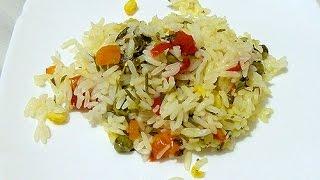 Как приготовить вкусный рассыпчатый рис с овощами