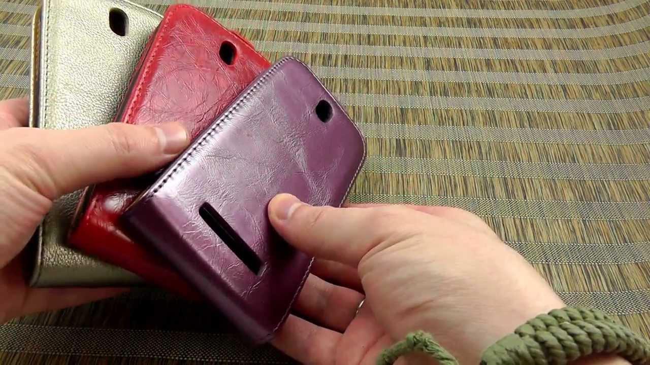 Чехол книжка для HTC Desire 600 Dual Sim обзор - YouTube