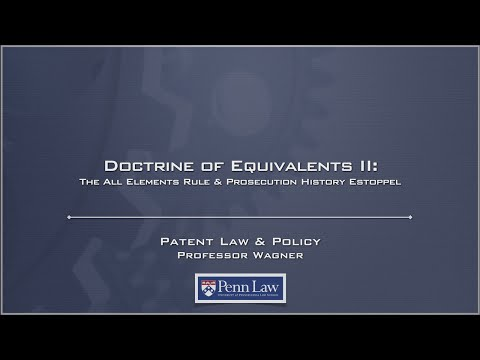 Lecture 15 - Doctrine of Equivalents 2