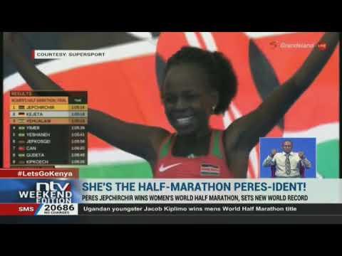 Kenya's Peres Jepchirchir sets new record in the women's World Half Marathon