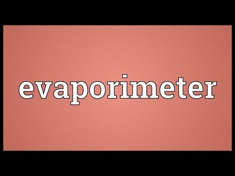Header of evaporimeter