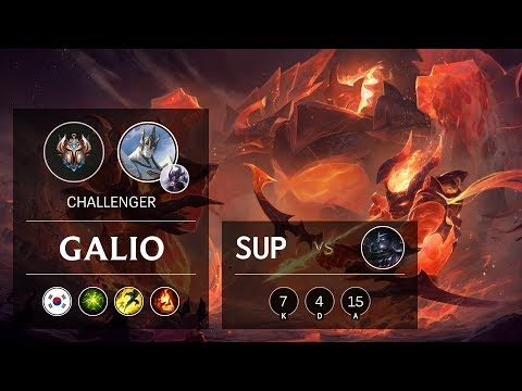 Galio Support vs Shen - KR Challenger Patch 9.24