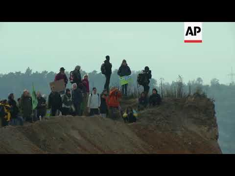 Environmental Activists Block Access To Strip Mine In Germany