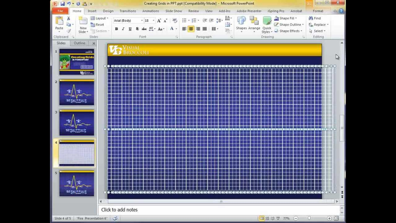 Creating a basic grid in powerpoint youtube creating a basic grid in powerpoint toneelgroepblik Choice Image
