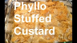Tasty Phyllo Stuffed Custard Galaktoboureko Greek Cuisine Recipe190