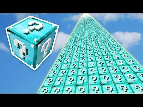999.999.999 METRE MAVİ ŞANS BLOKLARI KULESİ - Minecraft