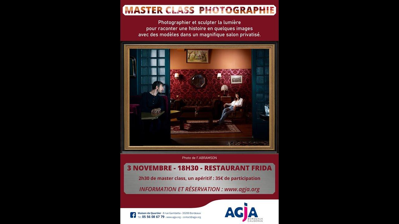 Masterclass Photo, Sculpter la lumière ou comment créer une scène cinématographique avec des flash.