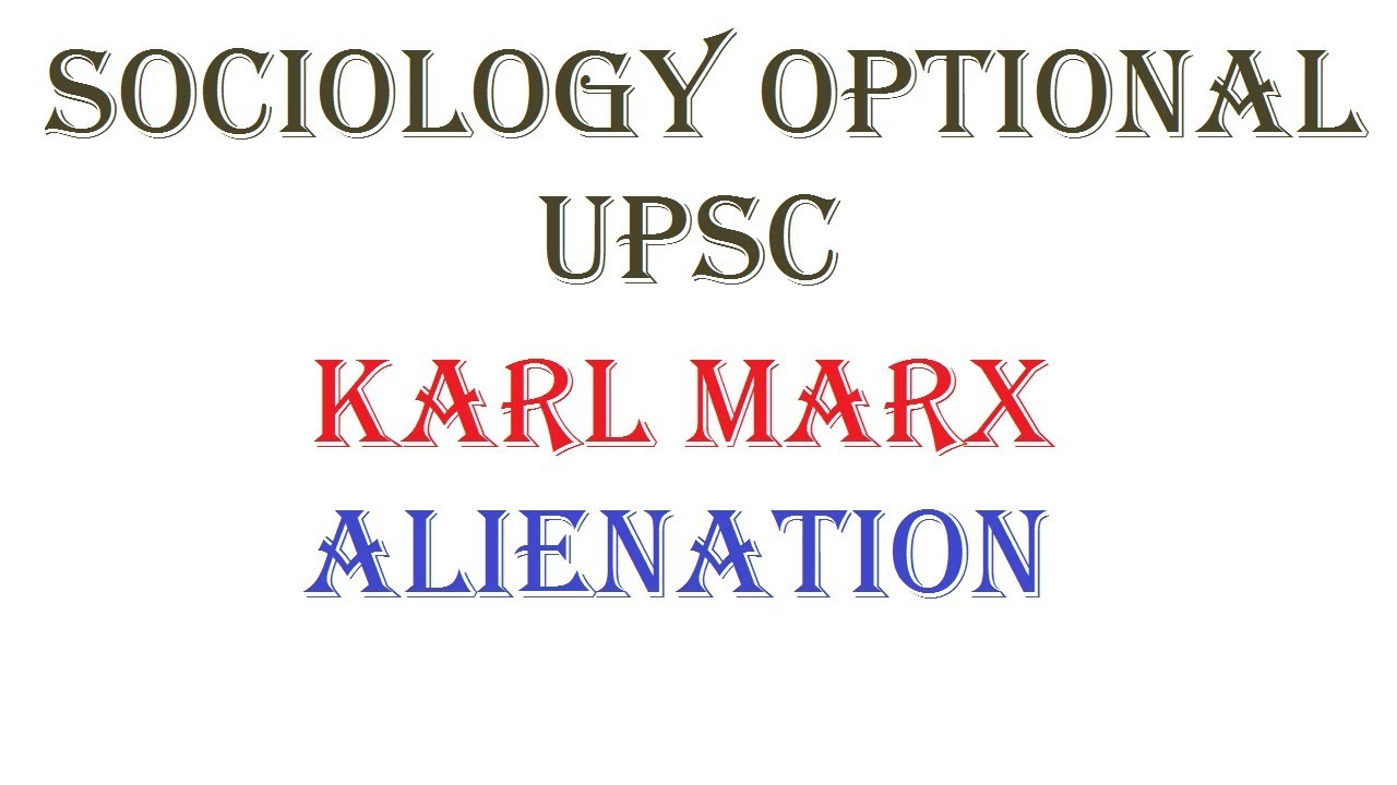 Karl marx alienation essay