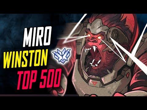 BEST WINSTON IN THE WORLD! MIRO CARRY [ OVERWATCH SEASON 5 TOP 500 ]