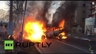 germany frankfurt in flames as protests mount against ecb