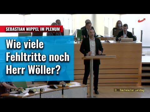 Wie viele Fehltritte noch, Herr Innenminister Wöller? Sebastian Wippel im Plenum