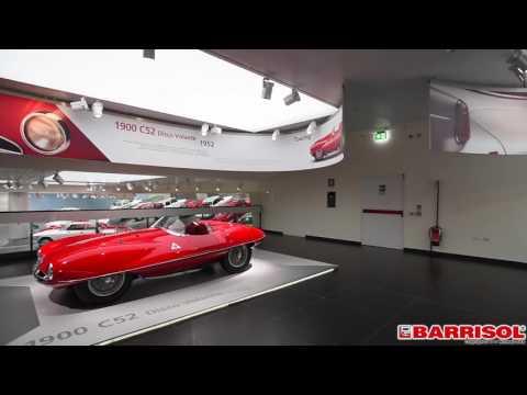 LINEARsystem - sufity świetlne w muzeum Alfy Romeo
