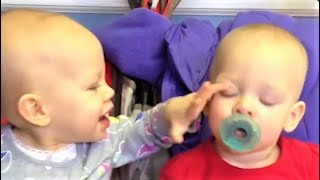 Twin Babies Funniest Fails videos - Try Not to Laugh
