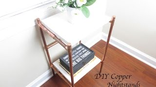 DIY Copper Nightstands