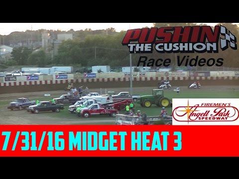 7/31/16 Angell Park Speedway: Midget Heat 3