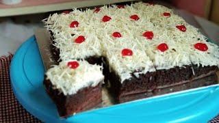 Cake Coklat Super Moist   Cara Membuat & Menghias Cake Potong Simple