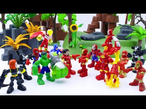Toys Play Time Avengers vs Iron Man Armors Ultron Army Toy Story Short Action Movie For Kids 2018