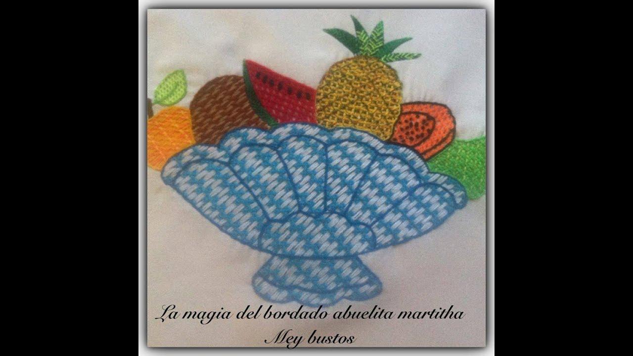 La Magia del Bordado Proyecto 16 Frutas Y Verduras - YouTube