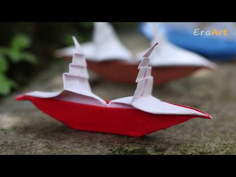 Paper Folding Art (Origami): How to Make Sailboat