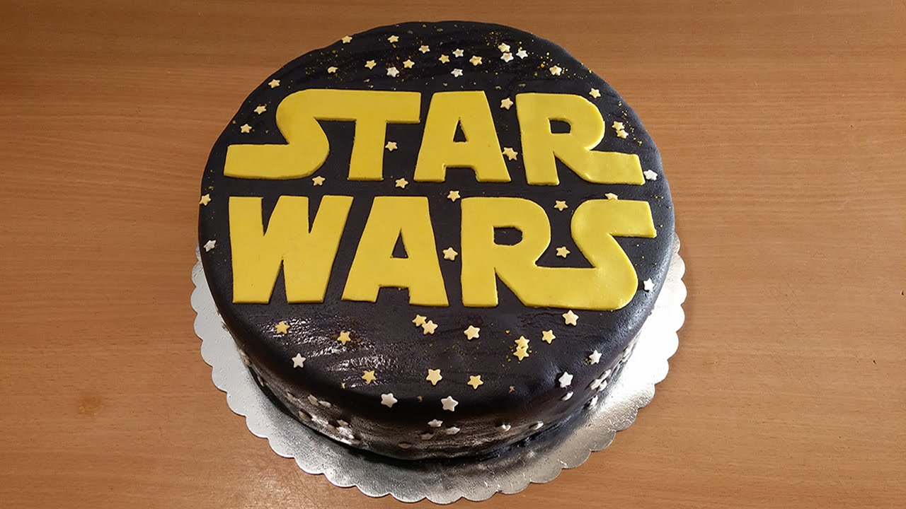 How To Make Star Wars Cake Star Wars Fondant Cake Youtube