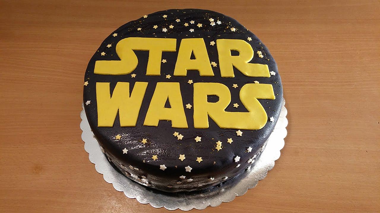 How To Make Star Wars Cake Star Wars Fondant Cake Youtube