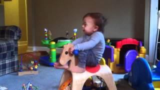 Owen Riding The Rocking-horse