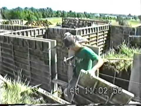how to build concrete foundation forms