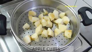 Apple Puree for Toddlers I Baby Food Recipe I How to make Steamed Apple Puree in home
