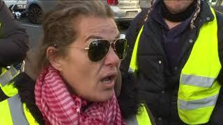 Marseille : action anti-PV symbolique des gilets jaunes contre une Scancar