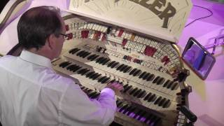 Phil Kelsall at the Blackpool Tower Wurlitzer organ
