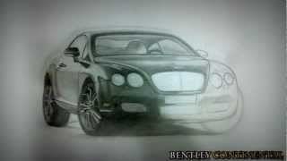 Cars Drawing / Рисуем тачки ( Porsche,Bentley,Audi )