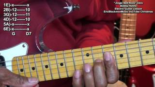 Jingle Bell Rock INTRO Electric Guitar Lesson Bobby Helms EricBlackmonMusicHD YouTube