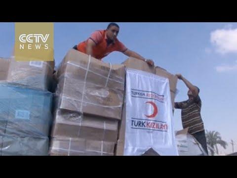 First Turkish aid truck arrives in Gaza