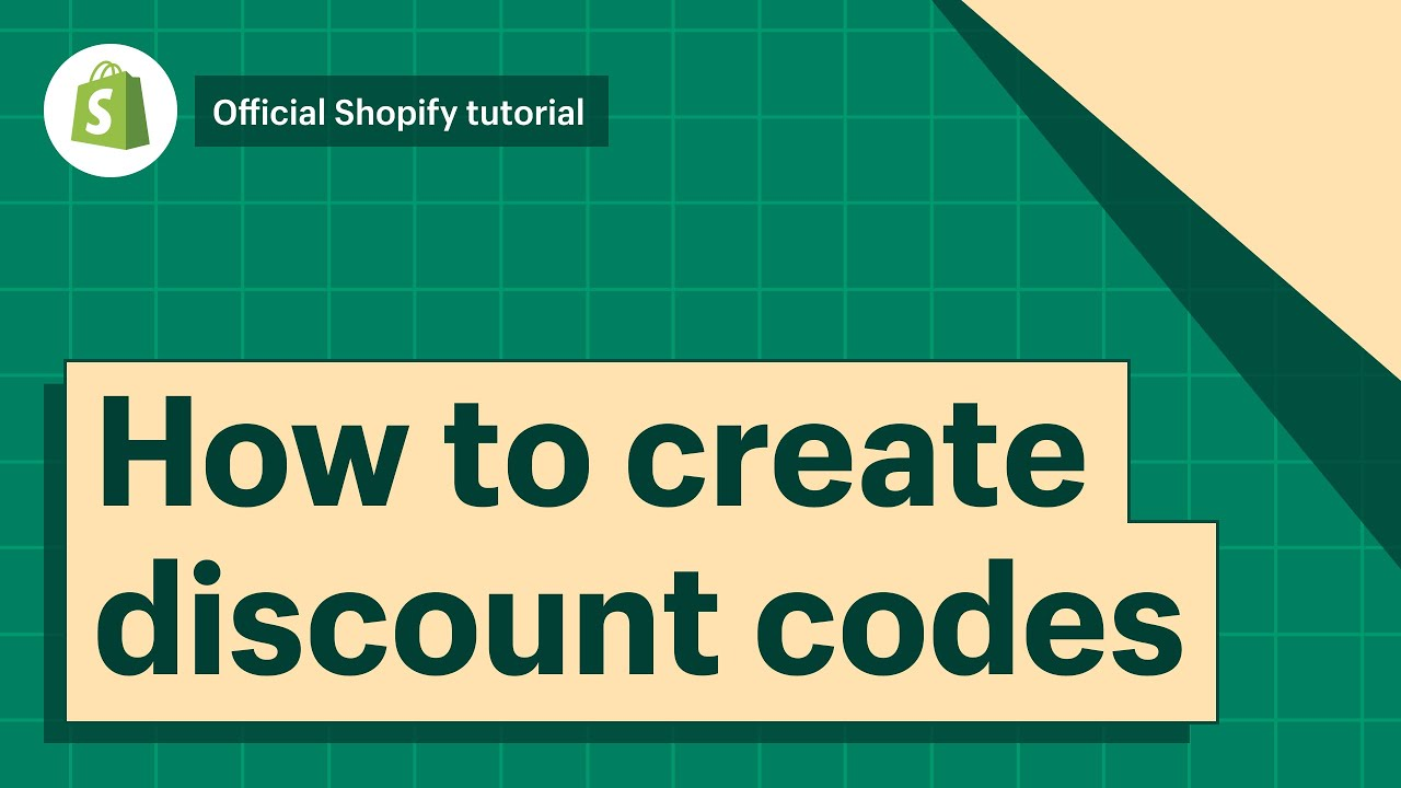 Creating discount codes · Shopify Help Center
